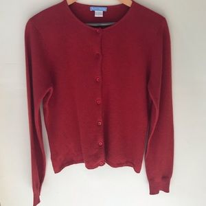 White + Warren 100% Cashmere Cardigan Sweater